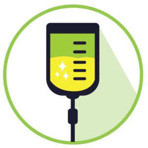 Icon of an IV Vitamin Therapy bag